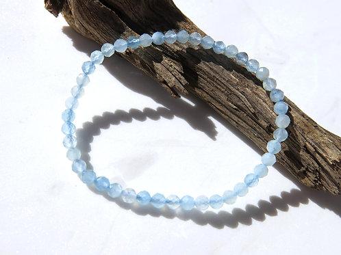 Aquamarine Faceted Bracelet