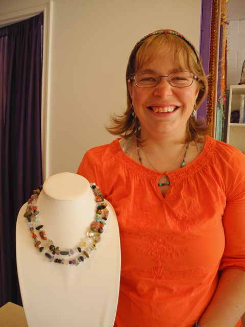 One of Kristy's bespoke necklaces