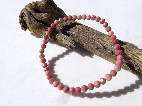 Rhodonite Faceted Bracelet