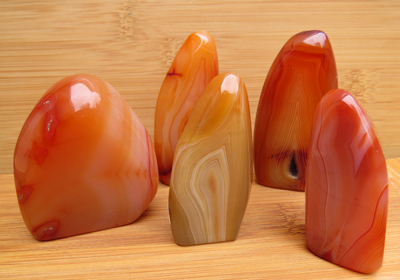 Carnelian free form sculptures
