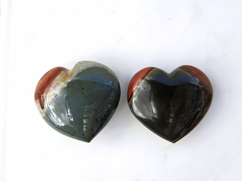 Polychrome Jasper Puff Heart