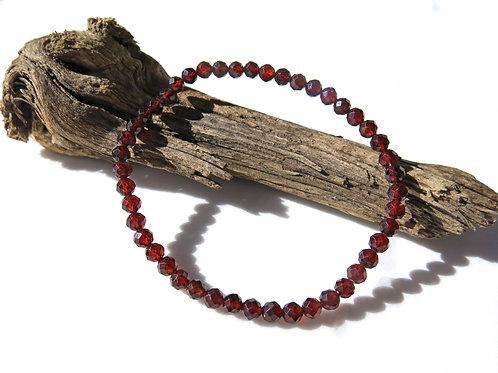 Red Garnet Faceted Bracelet