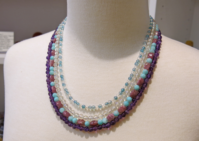 Beaded Gemstone Necklaces