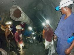 Under ground in Tanzanite One Mine