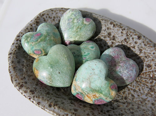 Ruby and Fuchsite Heart