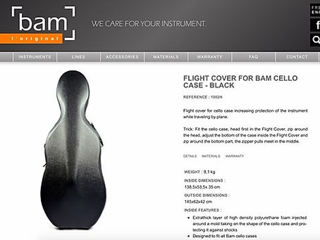 如何用最安全方式打包大提琴去托運 How to safely pack your Cello to checked|Bam cello case flight cover