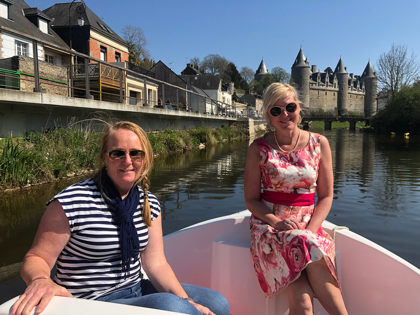 Electric boat hire on canal