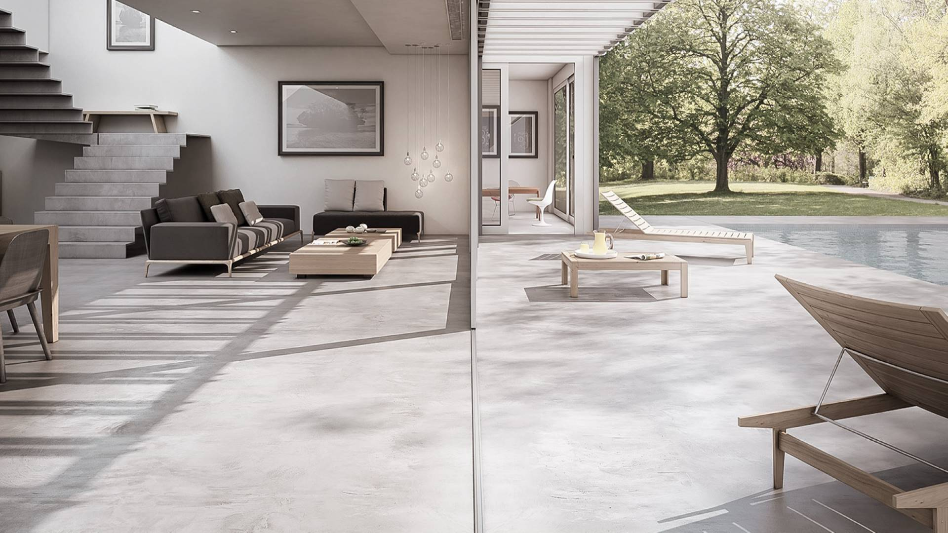 MICROCEMENT ON STAIRS INTERIOR AND EXTERIOR FLOORS