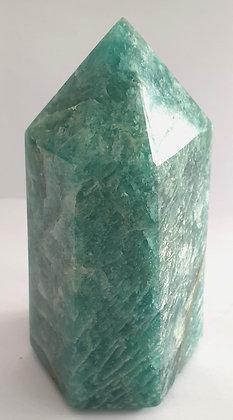 pierre amazonite prisme soleil de madagascar recto