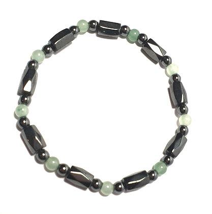 bracelet jade hematite