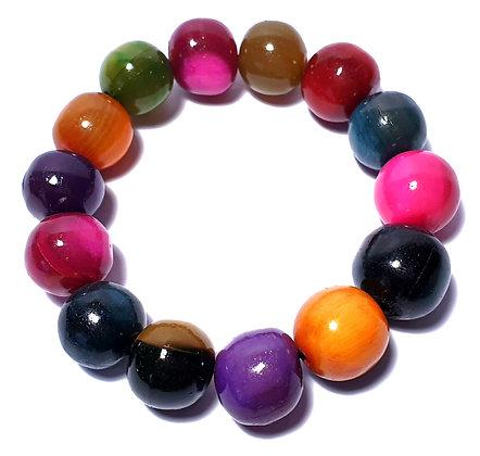 bracelet multicolore corne madagascar