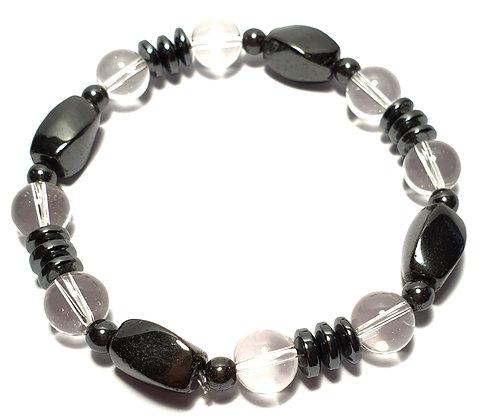 Bracelet HEMATITE CRISTAL DE ROCHE