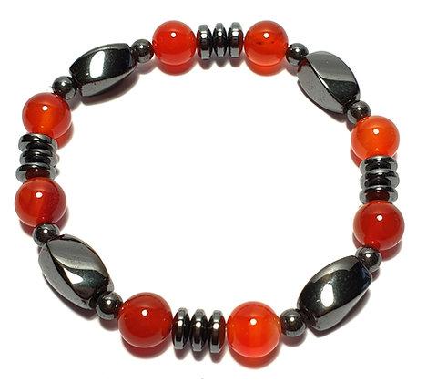 Bracelet HEMATITE CORNALINE madagascar