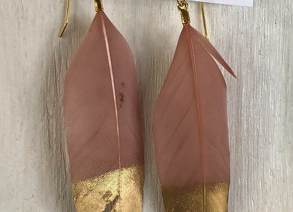Nude Feathers with Gold Tips
