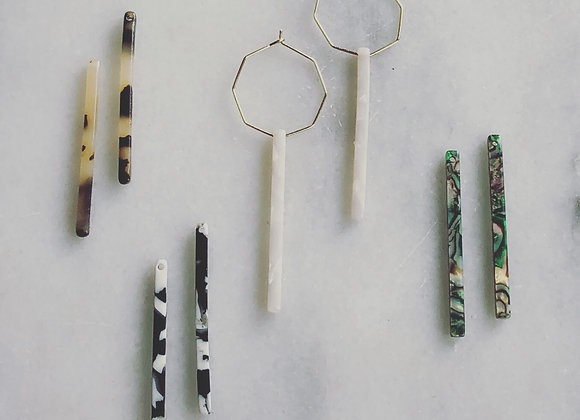 Acetate bar set with gold hexagon-get all 4 colors & get creative