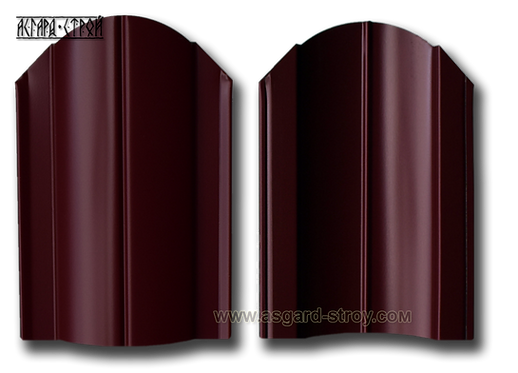 "Штакетник Европланка 0,45 RAL 3005 ""Красное вино"""