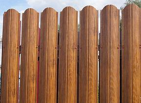 металлический штакетник, евроштакетник забор, металлический штакетник в новосибирске