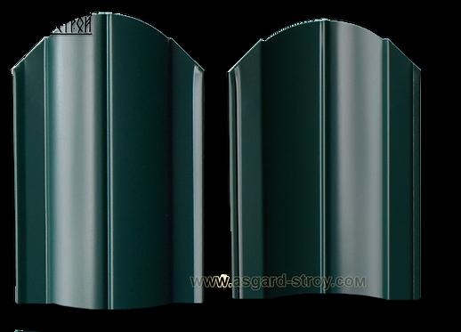 "Штакетник Европланка 0,45 RAL 6005/6005 ""Зелёный мох"""