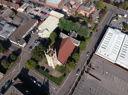 view of the church from above