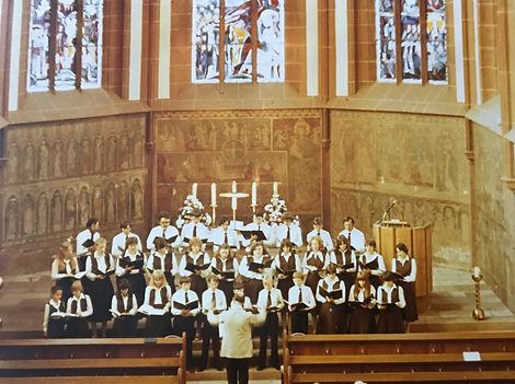 Choir performing in Lambrecht in 1981