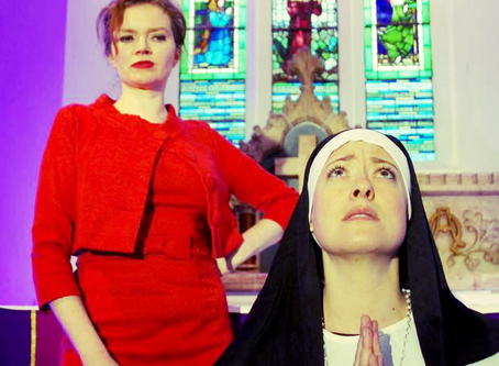 Sister Angelica opens on March 31st. Fantastic shots at yesterday's photo shoot with my gorgeous, bu