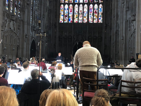 Enjoying Rehearsing Gerontius in kings college Cambridge with BBC orchestra on bbc radio 3 tonight