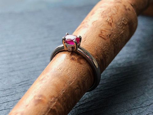 The Hidden Ring with Ruby and Diamonds
