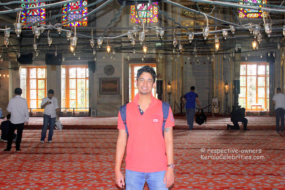 Sultan Ahmed mosque interiors aka Blue mosque interiors aka Hagia Sophia interiors