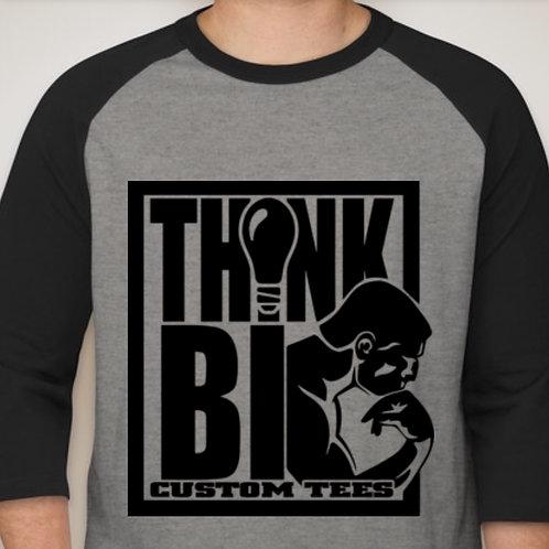 Black w/ Ash Baseball tee with Classic ThinkBig Logo