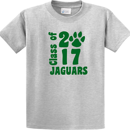 basic grey tee with class of 2017 Jaguars logo