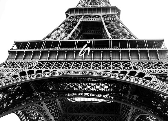 Eiffel Tower, Paris Photography, B&W