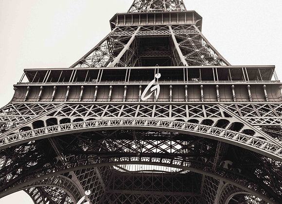 Eiffel Tower, Paris Photography, Sepia