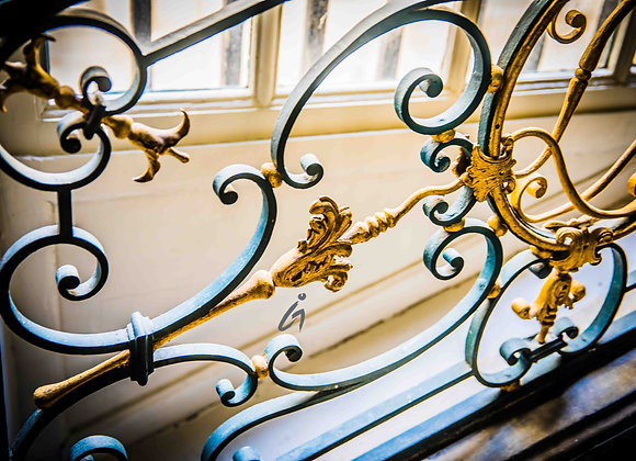 Stair Rail, Paris Photography