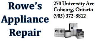 Rowe's Appliances Port Hope, Rowes Appliances, Rowe's Appliances