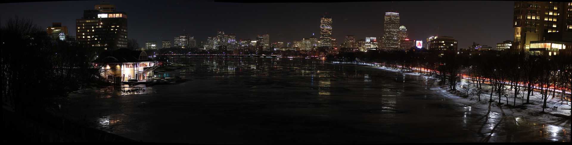Boston Skyline on a Winters Night