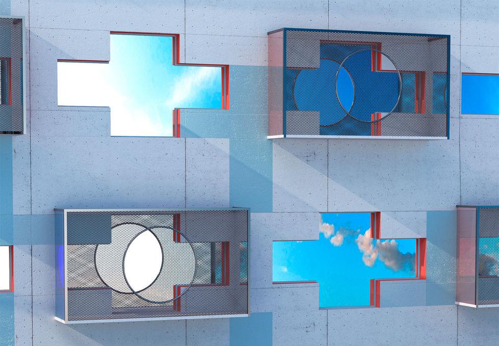 концепция редевелопмента здания завода для лофт апартаментов.