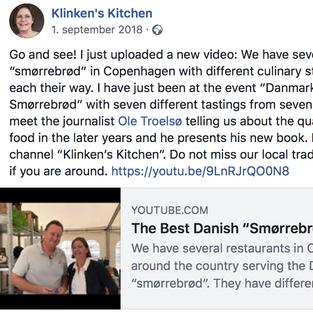 Klinken's Kitchen møder forfatteren og får et stykke smørrebrød