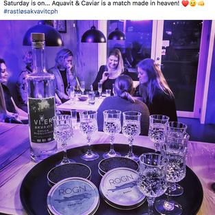 Caviar og akvavit, a match made in heaven