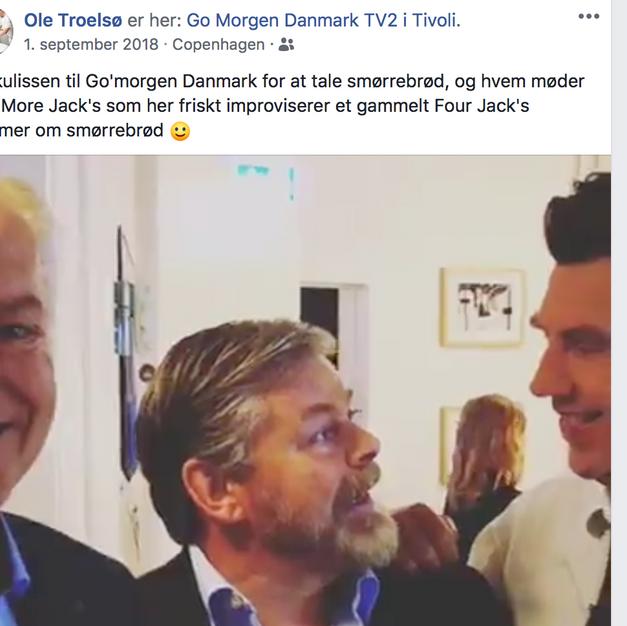 Forfatter Ole Troelsø i morgen-tv