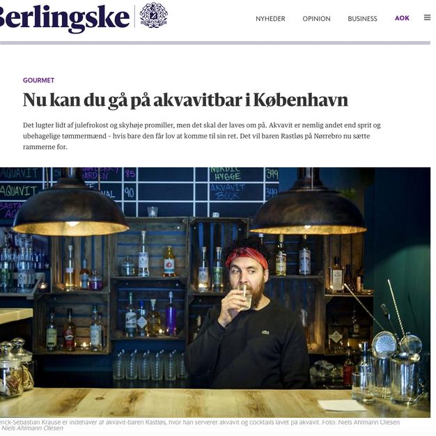 Lancering af Danmarks første akvavitbar
