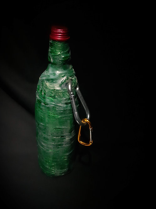 Glass Water Bottle with Mesh