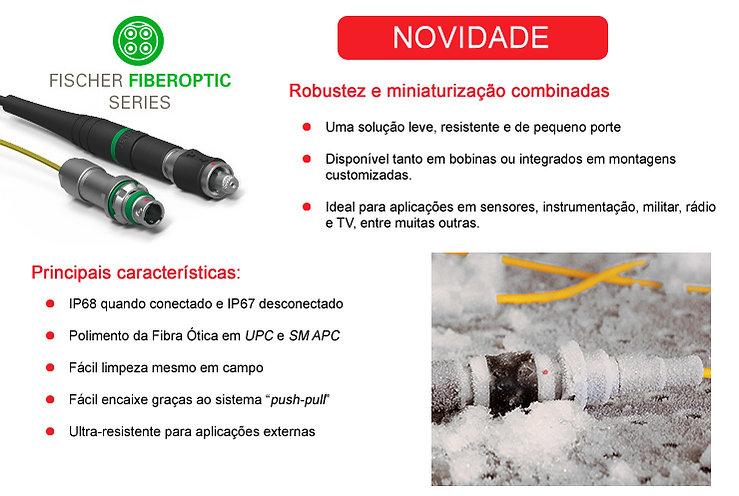 conector industrial fibra ótica