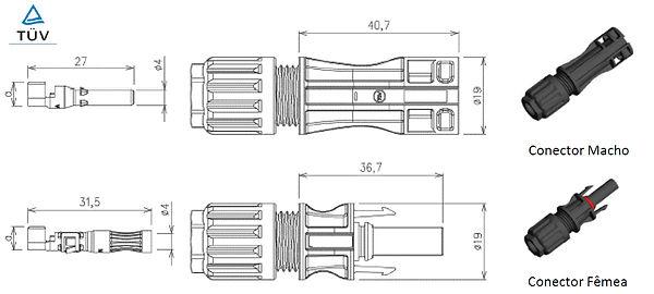 conector MC4 1500V