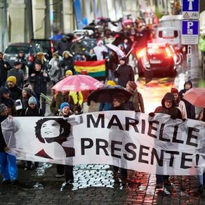 Kundgebung zum Gedenken an Marielle Franco