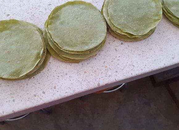 Tortillas con hoja santa por docena