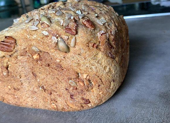 Pan multigrano con nueces