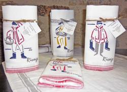 textile brodé collection Rivage, les mar