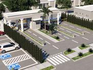 Vista Guarita e Estacionamento Externo