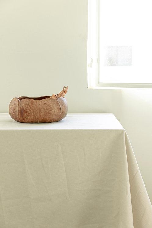מפת שולחן דמוי פשתן - אבן
