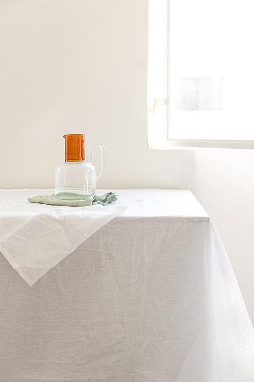 מפת שולחן 100% פשתן - White